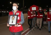 Photo of Armed masked men martyr Turkish Red Crescent official in northern Syria