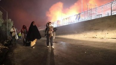 Photo of Migrant camp fire leaves 13,000 without shelter